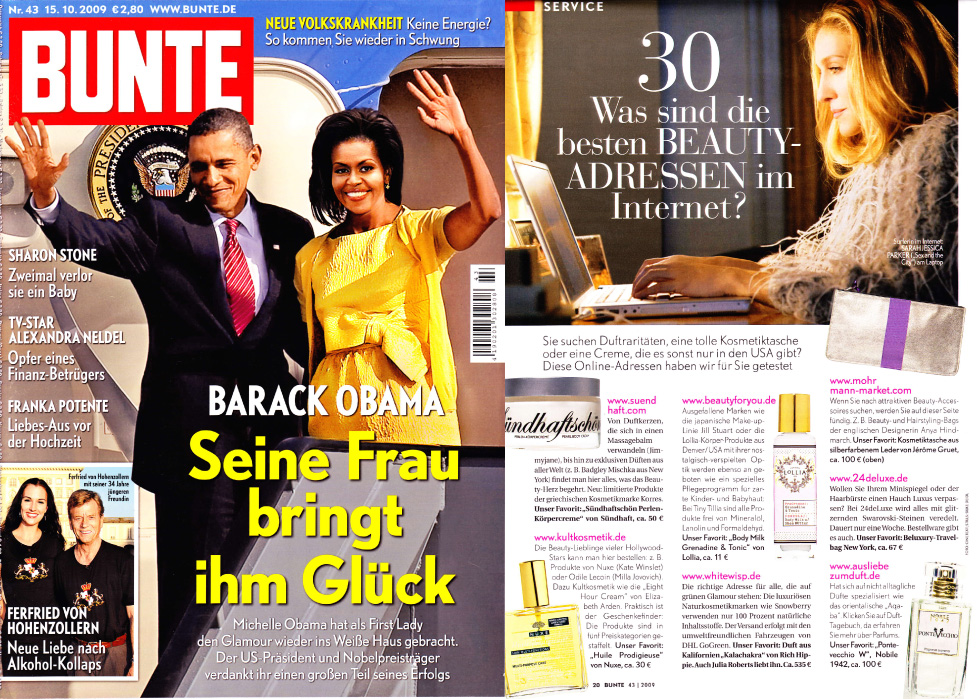Bunte - Germany <br>November 2009