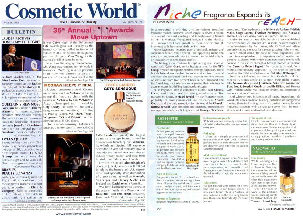 Cosmetic World<br>May 2008