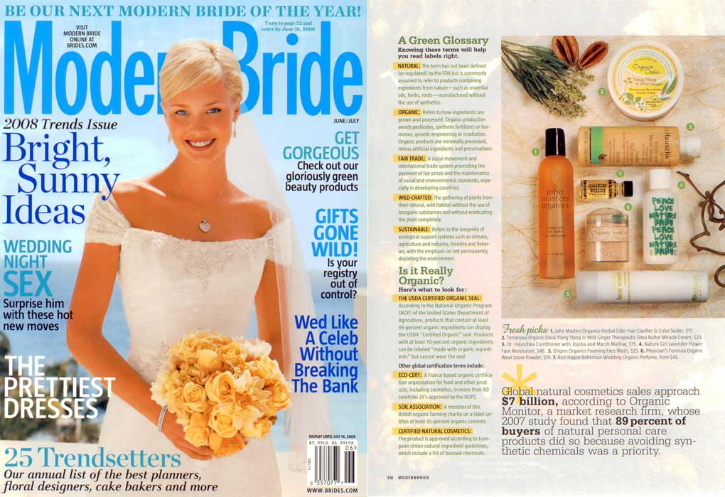Modern Bride <br>June/July 2008